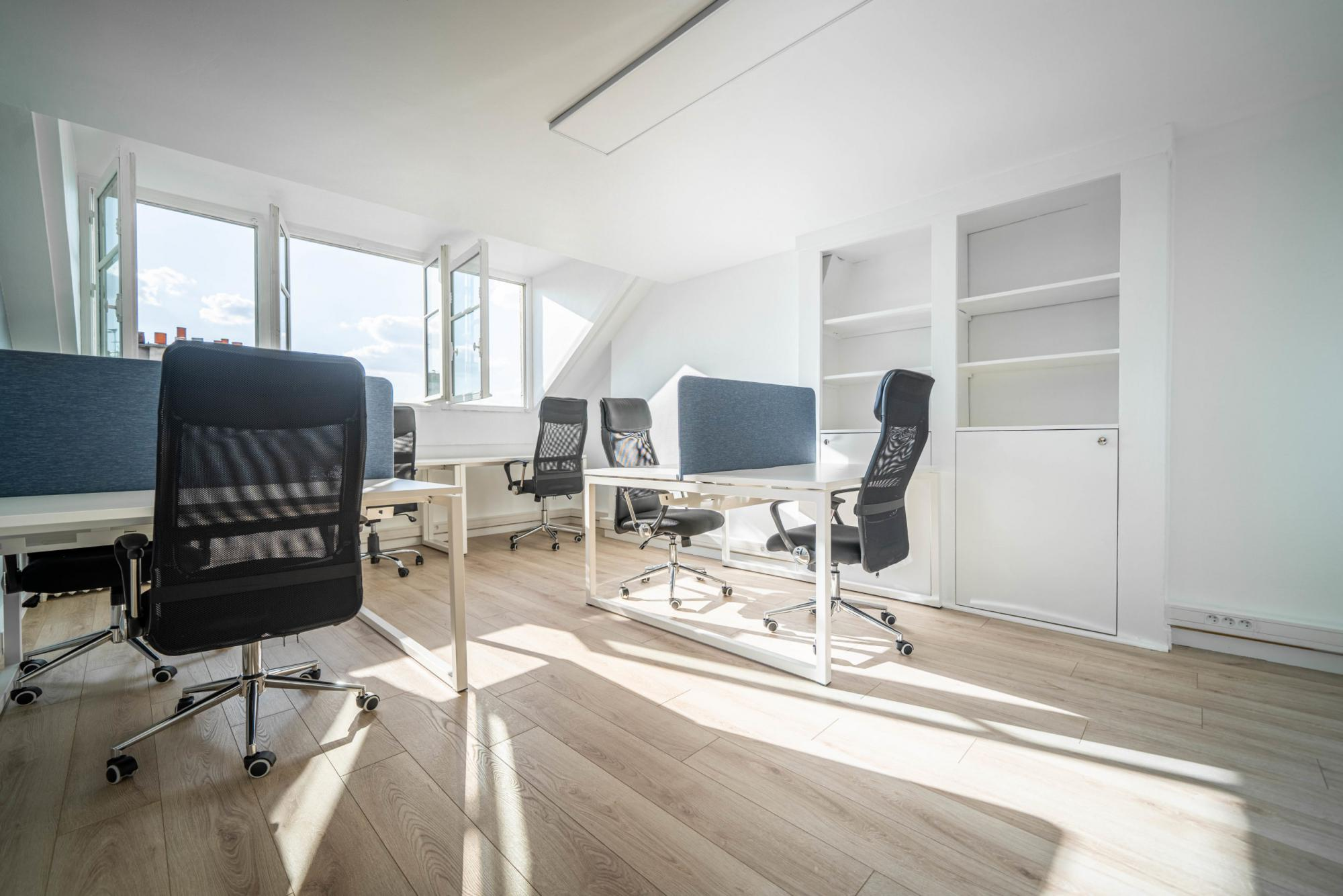 Various office spaces in the office building