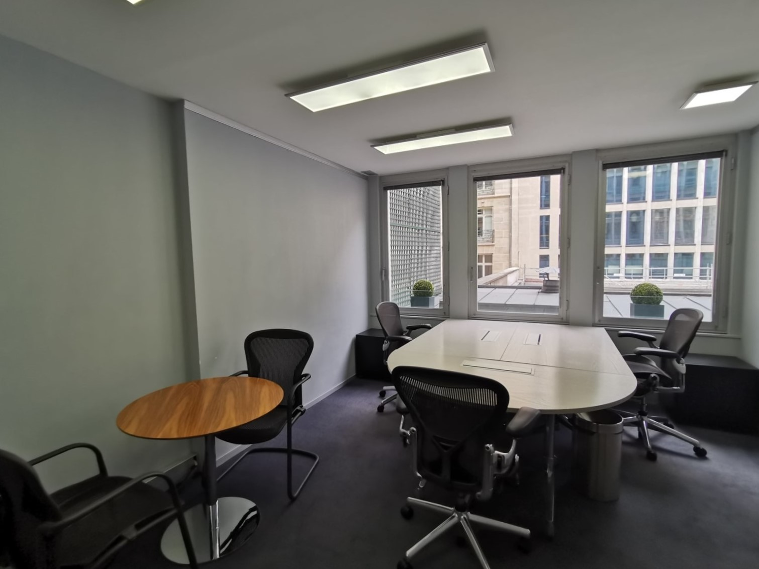 Office space with sitting area