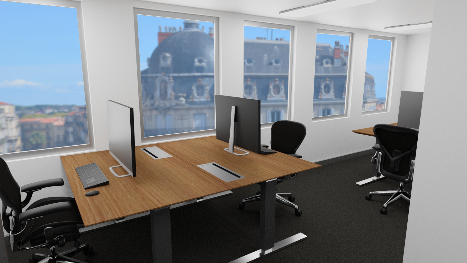 Fully equipped offices