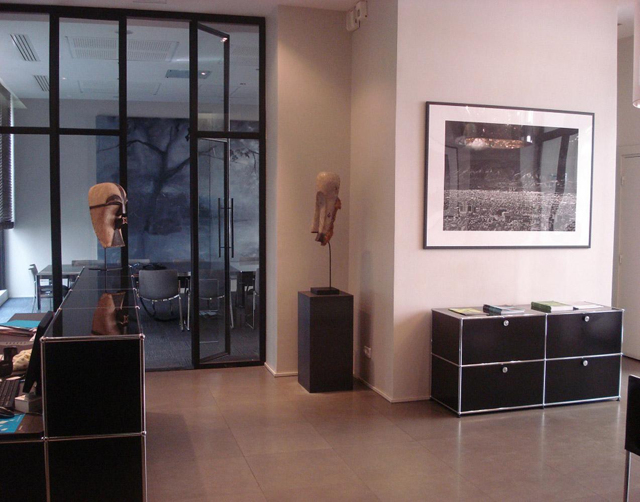 réception moderne et au décor original de centre d'affaire à Paris