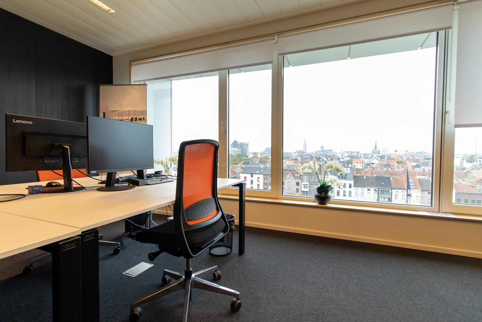 Uitzicht over Gent vanuit deze kamer
