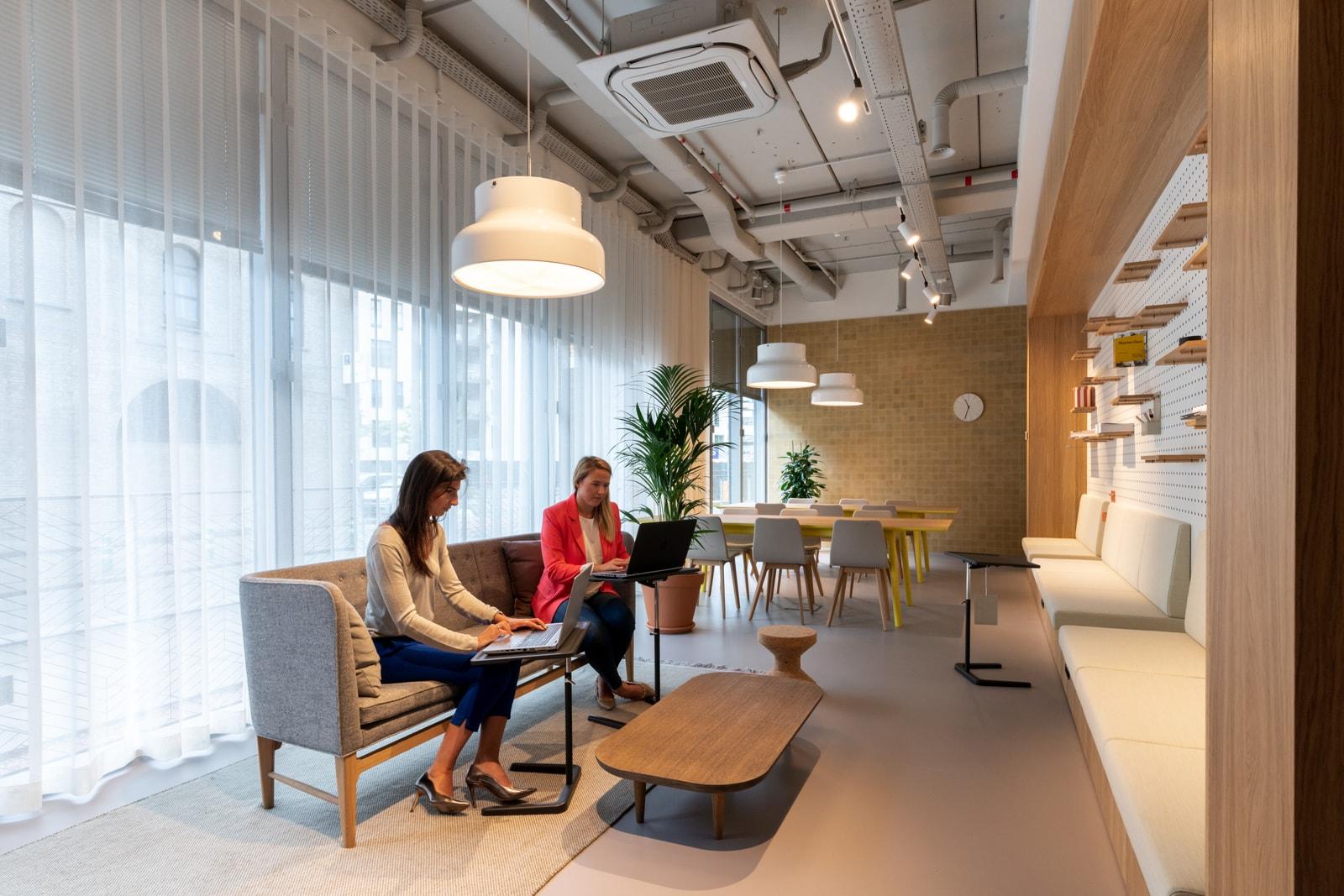 Nette en moderne werkplekken