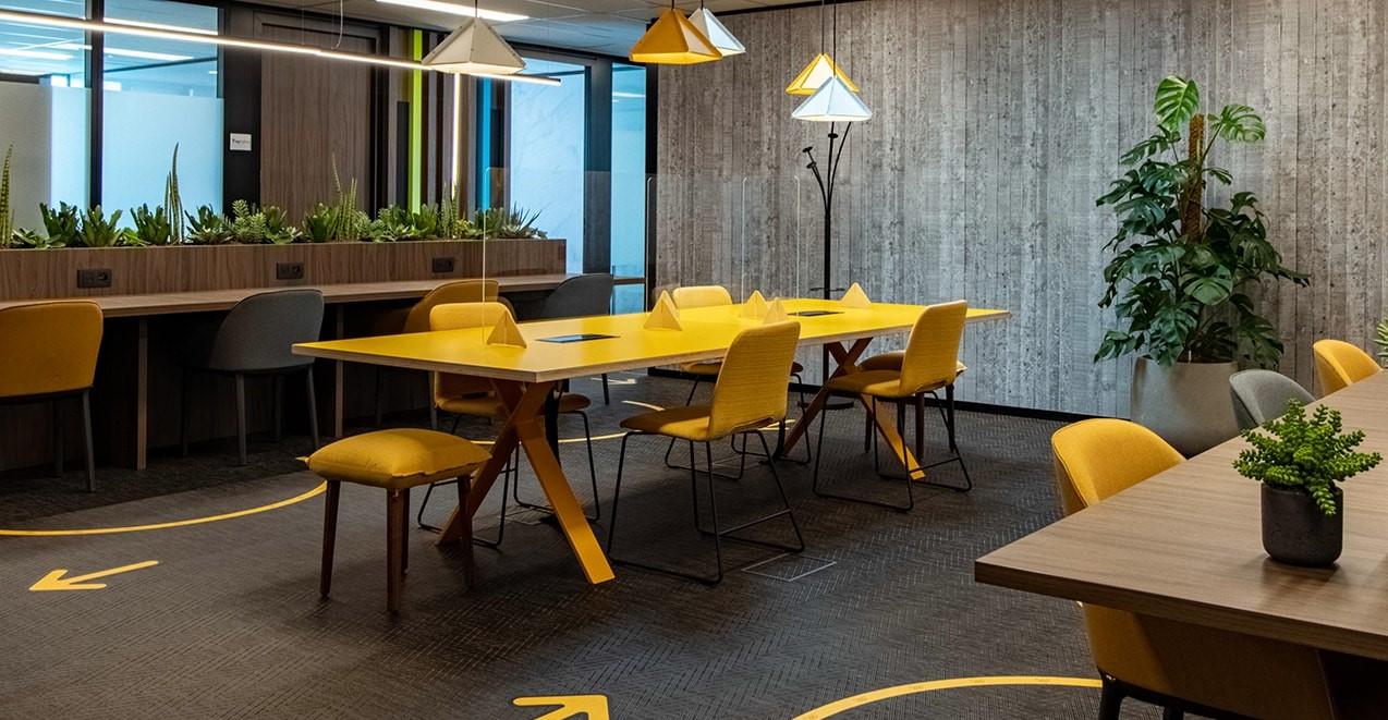 Coworking spaces in het kantoorpannd