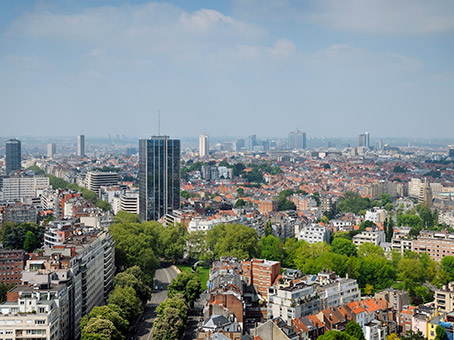 View over the city of Brussels