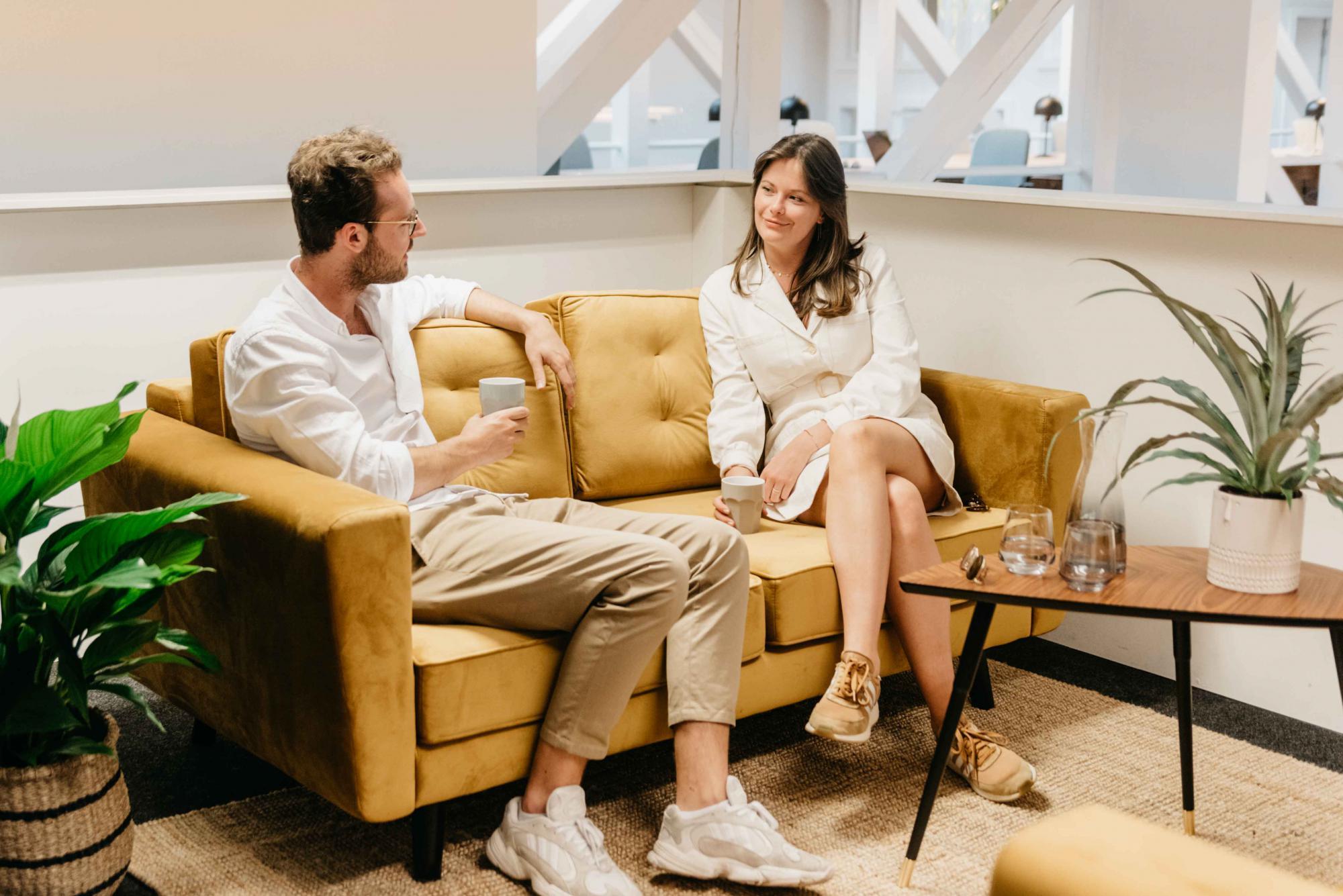 Relaxte vergader en ontmoetingsplekken